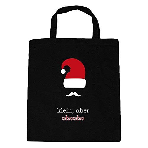 Fan-O-Menal katoenen tas Kerstmis kerstmuts klein, maar ohooho 30753 zwart