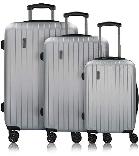 Bugatti Juego de Maletas de Viaje Lima (3 Piezas) con Cerradura TSA - Plateado