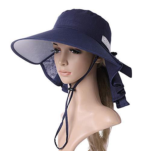 JU FU Hut - Damen Sommer UV-Schutz Sonnenhut Gesichts-Nackenschutz Sonnenschutzkappe Multifunktions Outdoor-Aktivität Sonnenhut (3 Farben) | (Farbe : #1)