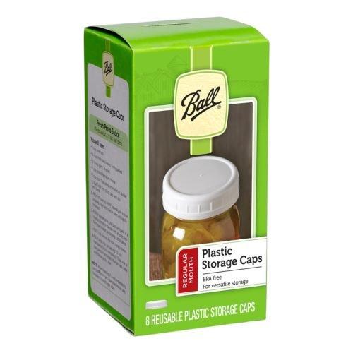 Ball Regular Mouth Jar Storage Caps Set of 8