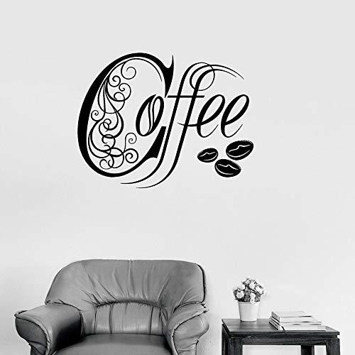 Tianpengyuanshuai vinyl sticker keuken koffie winkel huis decoratie muursticker creatieve koffiebonen muurschildering