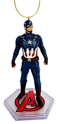 Captain America from Movie Endgame Figurine Holiday Christmas Tree Ornament - Limited Availability - New for 2019