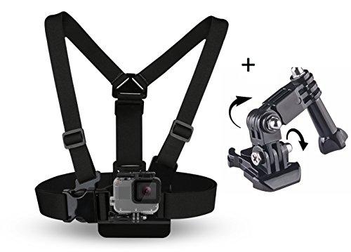 SHOOT® borstband incl. haakstuk borst lichaam riem houder voor GoPro Hero 6 Black Gopro Hero 5 Black Gopro Hero 4/3+/3/2/1 en verder actiecamera's