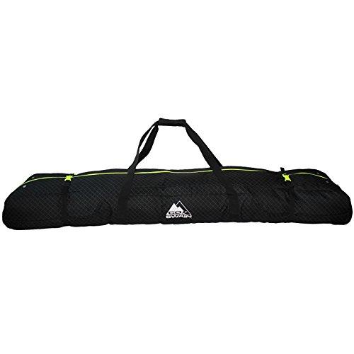 Cox Swain Snowboard & Ski Bag mit Rollen -Albertville- Platinum Kollektion, Colour: Black, Size: 175cm
