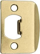 Kwikset 3437-01 3 CP, STRK, SQ CNR FULL LIP Square Corner Strike Plate, Polished Brass