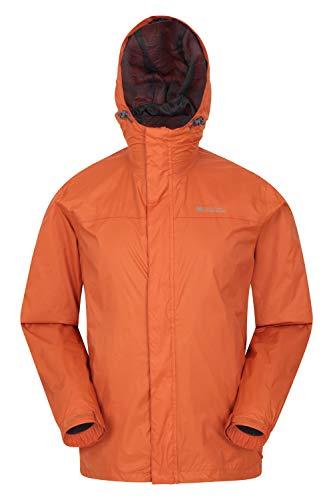 Mountain Warehouse Torrent Jacke für Herren - Wasserfeste Regenjacke, Leichter Mantel mit versiegelten Nähten, Freizeitjacke Gebranntes Orange 3XL