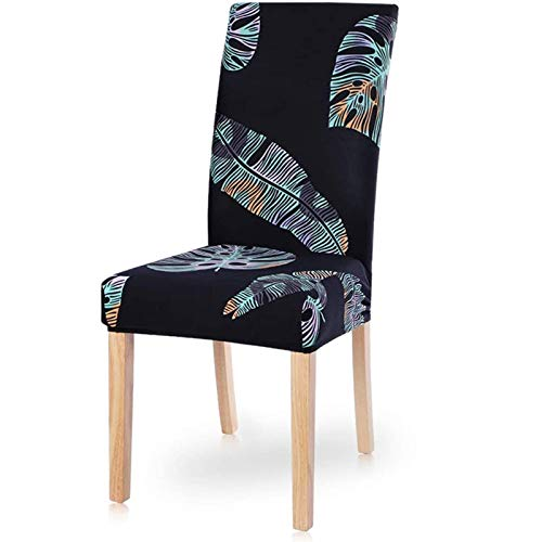 PLDYJ Stuhlabdeckung Moderne Esszimmerstuhl Cover Spandex Stretchstuhlabdeckung Esszimmer Stuhlabdeckung Stretch Chair Cover Hotel Bankett (Color : Redaiyulin, Specification : 6pcs)