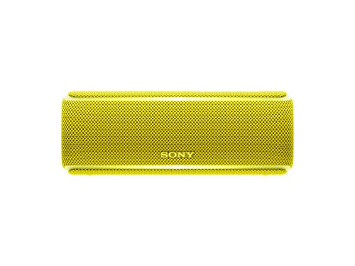 Sony SRSXB21Y - Altavoz portátil Bluetooth (Extra bass, modo sonido live, party booster, luces de fiesta llamativas), color amarillo