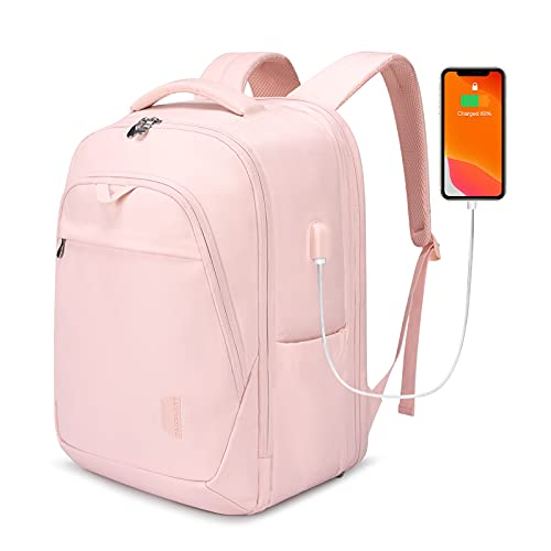 BAGSMART Travel Laptop Backpack Fits up to 17.3 Inch Notebook Water Resistant Casual Daypack Large Work Backpack for Business, College, Travel, Men, Women