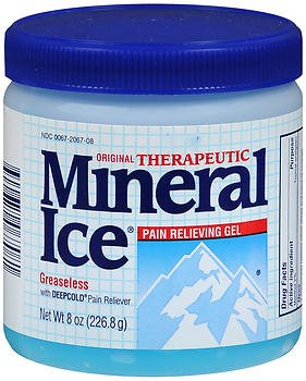 Mineral Ice Pain Relieving Gel - 8 oz, Pack of 4