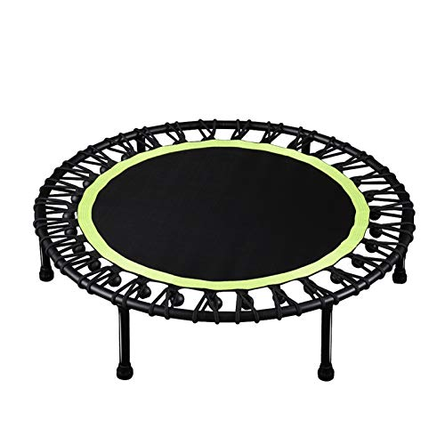 YCRCTC 40'Fitness Trampoline Silent Mini Fitness Cebounder para Adultos Kids Indoor Gym Bungee Rebounder Jump Trainer Entrenamiento (Color : Green)
