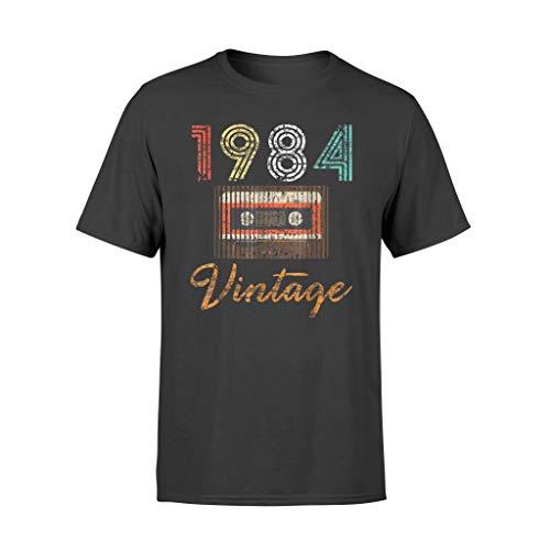 Leet Group 1984 Vintage Vintage Vintage Vintage Vintage Vintage Retro 34th Birthday Cassette Camiseta