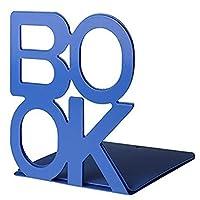 Aibecy 1ペアBOOKレターメタルブックシェルフオフィスデコレーション滑り止めブックエンド