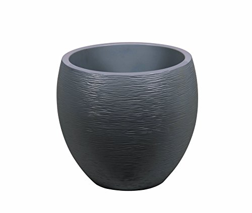 Eda Plastiques - Vaso Egg Graphite, 50x 50x 45cm, 13736 BL,CER CX2