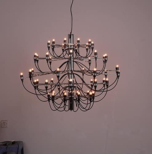 FMGR Araña de 30 Cabezas, Amplia Gama de iluminación, Fabricada en Acero Inoxidable, fácil de Instalar, Adecuada para Sala de Estar, iluminación del vestíbulo del Hotel