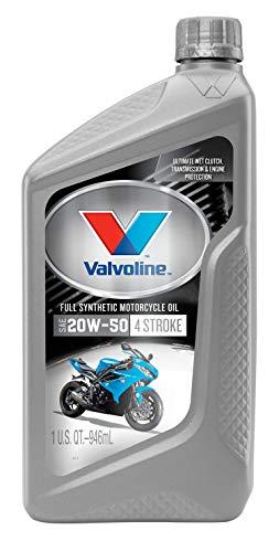 Valvoline 4-Stroke Motorcycle Full Synthetic SAE 20W-50 Motor Oil 1 QT