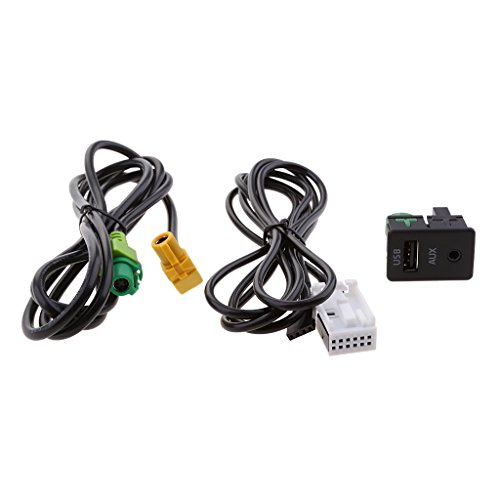 KESOTO Voiture USB Aux Audio Entrée Câble Adaptateur Kit pour VW Passat B6 B7 CC Touran