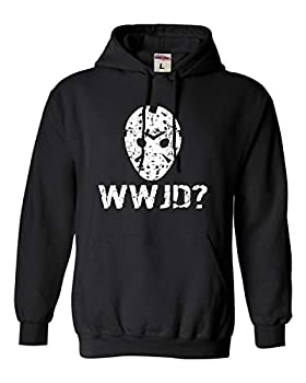 Go All Out XXX-Large Black Adult WWJD What Would Jason Do? Funny Horror Movie Hooded Sweatshirt Hoodie