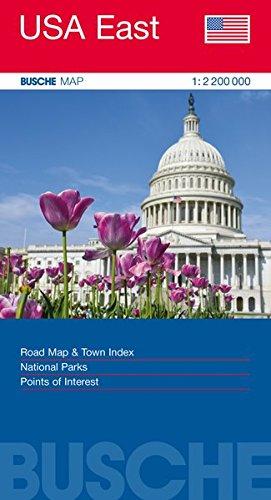 USA East: Busche Map Straßenkarte, 1:2,2 Mio. (Busche Map Straßenkarten)
