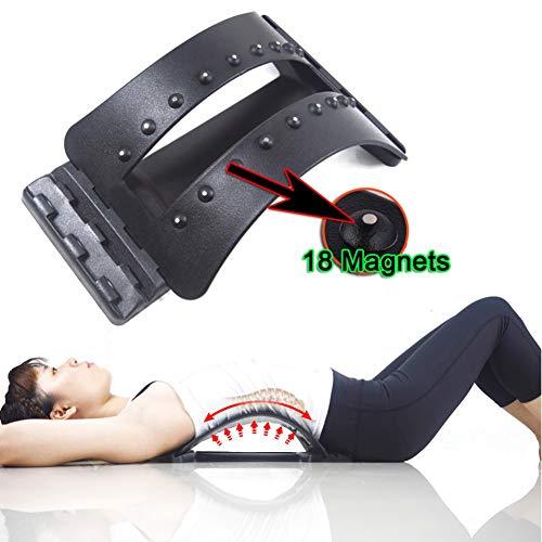 DXFK.AM Zurück Massage Bahre Unterer Rücken Schmerzlinderung Gerät, Lendenwirbelsäule Unterstützung Bahre Für Haltungskorrektur 3 Level Tragbar Fachmann Chiropraktik-Massagegerät