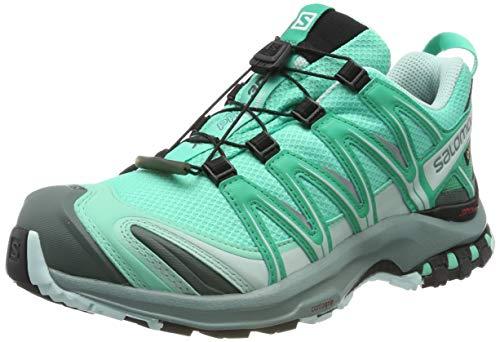 SALOMON XA PRO 3D GTX, Scarpe da Trail Running Impermeabili Donna, Verde (Electric Green/Vivid Green/Icy Morn), 38 2/3 EU