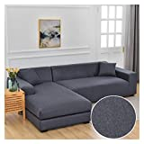 NEWRX Chaise Longue Sofá Cubiertas para Sala de Estar Sofá Elástica Significaciones Cubierta de sofá Esquina de Estiramiento L-Formas Sofá Necesitan Comprar 2pcs Funda