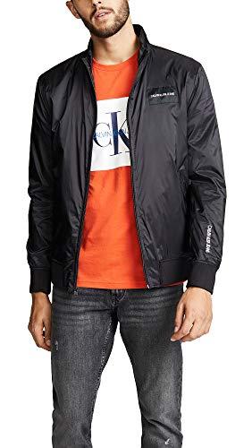 Calvin Klein Jeans Men's Bomber Jacket, Black, Medium