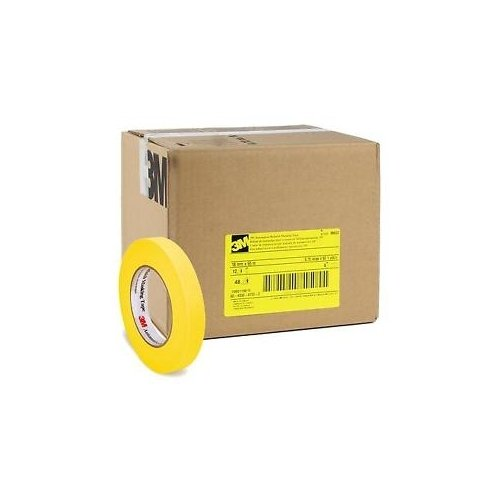 3M Automotive Refinish Yellow Masking Tape 18 mm Case of 48 - 06652-48