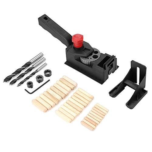 Taladro Guide-38pcs / set Pasador de madera Guía de perforación de orificios rectos Herramienta de localización de posicionador de carpintería for carpintería