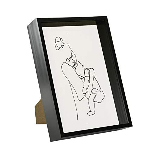 Nicola Spring 3D Deep Box Photo Frame - A4 (8 x 12) - Black