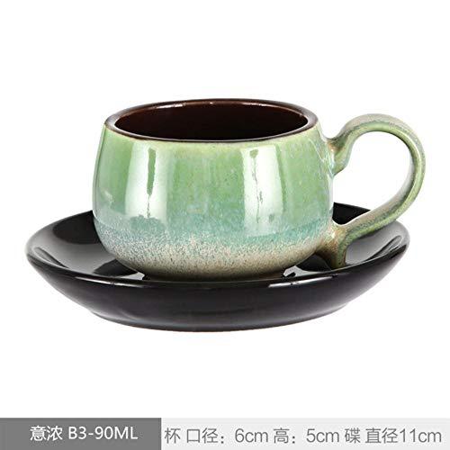 Kreative Tasse Weinschale Kaffeetasse90 Ml Espressotassen Und Untertassen, Handbemalte Trompetengröße Mini-Lattentassen, Personalisiertes Retro, Siehe Tabelle