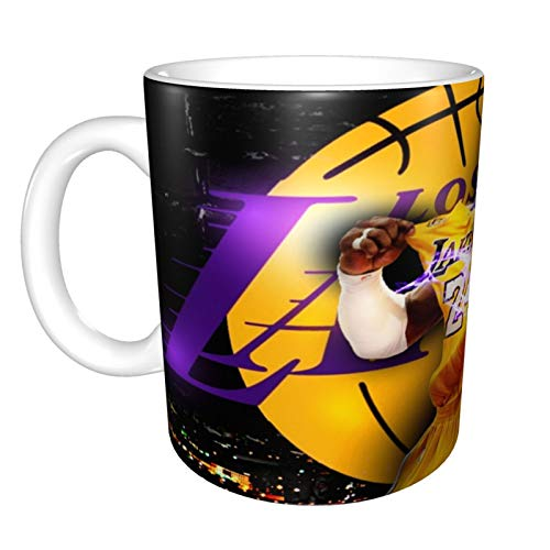 Los Angeles Lakers Tasse, süße Keramik-Kaffeetasse, Morning Cup, Neuheit, Kaffee, Tee, Milch, Weihnachtsbecher, Geschenk für Mädchen, magische Liebhaber, 330 ml