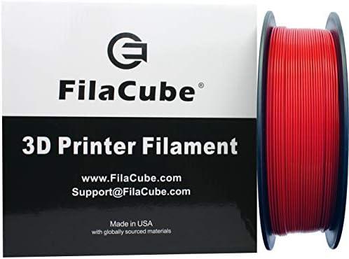 Red PLA 3D Printer 1 75mm Filament FilaCube 1 75 mm 1kg PLA 2 3D Printing Plastic Red Filament product image