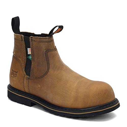 Timberland PRO Men's, Millworks Chelsea Comp Toe Work Boot Brown Distressed 13 W