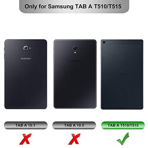 Domxteck (2er-Pack Displayschutzfolie für Samsung Galaxy Tab A T510 / T515 10.1 2019, [Kratzfestigkeit] 9H Härte 2.5D Runde Kante aus gehärtetem Glas-Displayschutz
