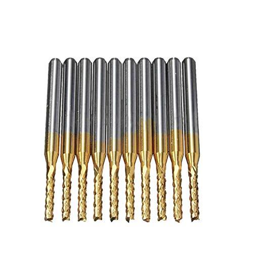 XCQ 10 stücke 2mm 1/8 Zoll Werkzeughalter, Gravierwerkzeug Hartmetall Endmühle CNC-Werkzeug langlebig 0404 (Cutting Edge Diameter : 2.0mm)