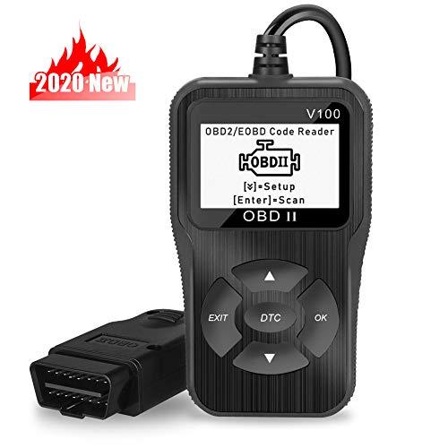 N-A OBD2 Coche Diagnósis Multimarca Escáner Herramienta, EOBD Escáner con Pantalla LCD CarDiagnosticTool para Lecturar y Borrar de DTC, Herramienta de Diagnostico de Coches Portátil