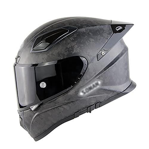 Casco Integral Para Motocicleta, Aprobado Por Dot Ece Ciclomotor Bicicleta De Calle Carreras Motocicleta Casco Con Visera Tintada Protector Solar Desplegable Para Adultos JóVenes Hombres Mujeres