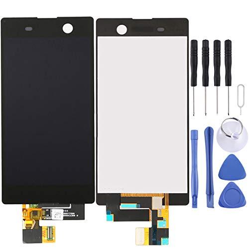 LCD Screen und Digitizer Full Assembly for Sony Xperia M5 / E5603 / E5606 / E5653 (Schwarz) (Color : Black)