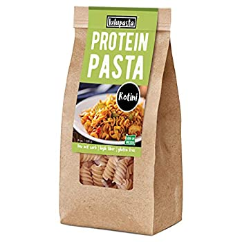 High Protein Pasta 22g Made with Lupin Flour & Sunflower Flour 5g Net Carb Gluten Free Keto Pasta Low Carb Pasta Lupin Pasta by lulupasta  Rotini 1 Pack