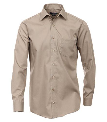 CASAMODA Herren Comfort Fit Business Hemd, Gr. Kragenweite: 39 cm, Beige (beige 600)