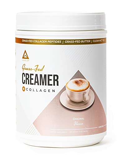 Grass-fed Keto Creamer: Collagen Protein + C8 MCT Oil + Irish Butter | Keto Bomb BPC Coffee Creamer | Ketogenic Diet Ketosis Supplement Ketone Support (Original, 19oz)
