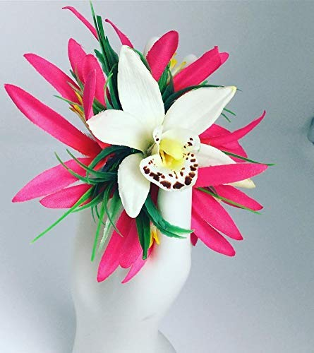 Hair Jewelry Hair Accessory Pink Plum Orange Gold Orchid Hair Slide Large Hair Clip Gift for Her Pretty Hair Barrette