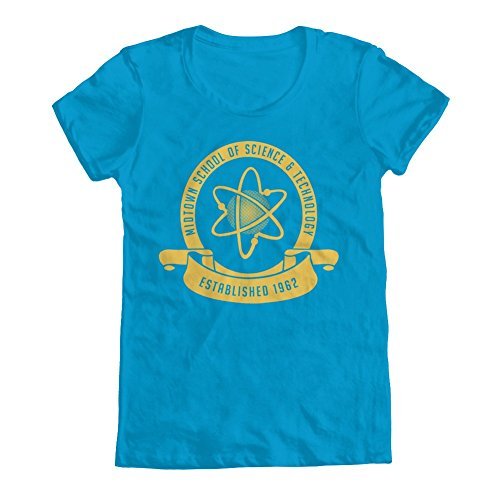 GEEK TEEZ Midtown School of Science & Technology Women's T-Shirt Turquoise Medium