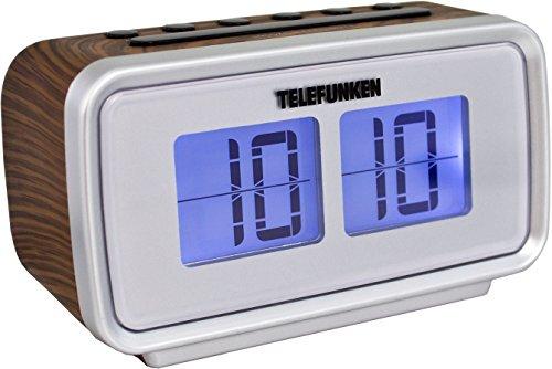 Telefunken R1002 Radiowecker (UKW-Radio, PLL-Tuner, Dual Alarm, Sleep-Timer, LCD-Anzeige)