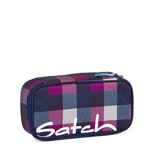 Satch Schlamperbox Berry Carry, Mäppchen mit extra viel Platz, Trennfach, Geodreieck, Lila