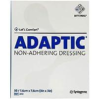 Adaptic Non-Adherent Dressing 3 x 3 (Box of 50) by Systagenix [並行輸入品]