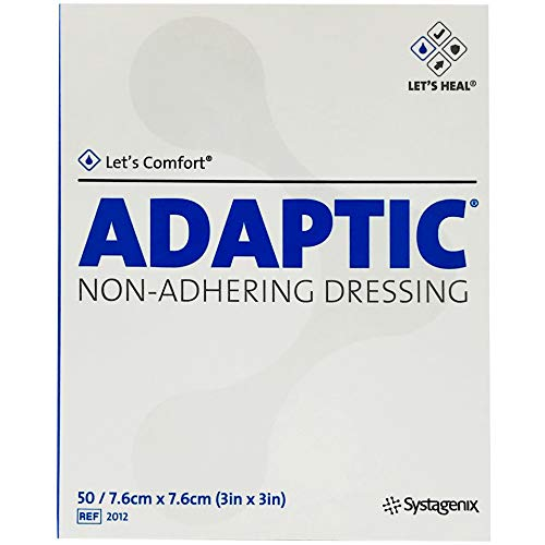 "Adaptic Non-Adherent Dressing 3"" x 3"" (Box of 50)"