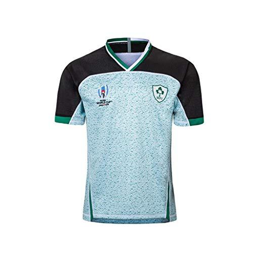 Pavilion Maillot Rugby Jersey Irlande Équipe 2019 Monde Coupe Accueil Et Un Moyen Édition Le Rugby Respirant Chemises (Color : White, Size : S)