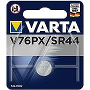 VARTA Batteries Electronics V76PX/SR44 silver battery 1-pack, Battery in original blister pack of 1